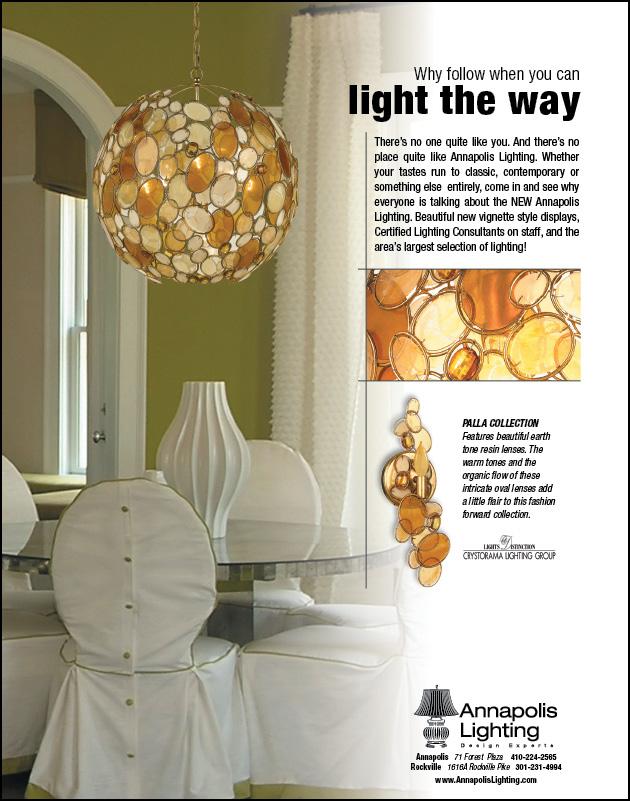 Annapolis Lighting Crystorama Image Ad & Showroom Portfolio | Clark Communications Group