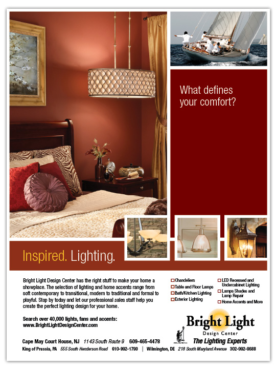 Showroom portfolio clark communications group for Bright lights design center