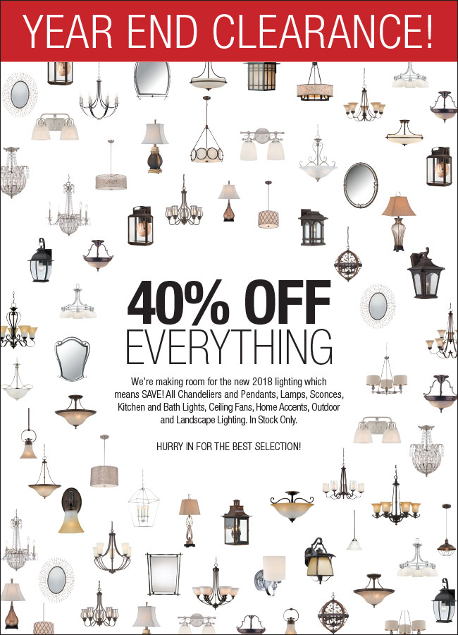 Year-End-Clearance Lighting Sale
